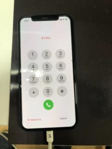 ドックコネクタの交換後iPhoneX